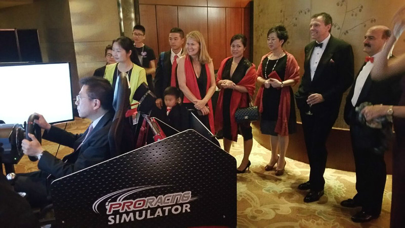 Simulator at Charity Event