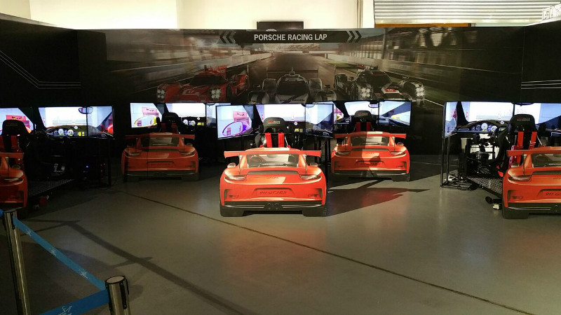 Porsche Event Driving Simulators