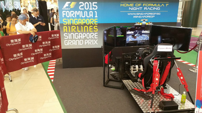 Singapore Airlines Formula 1 Promotion with ProRacing's Simulators